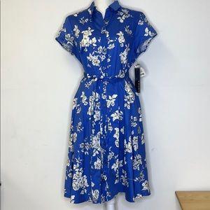 CHETTA B Dress Button Down Size 12 NWT